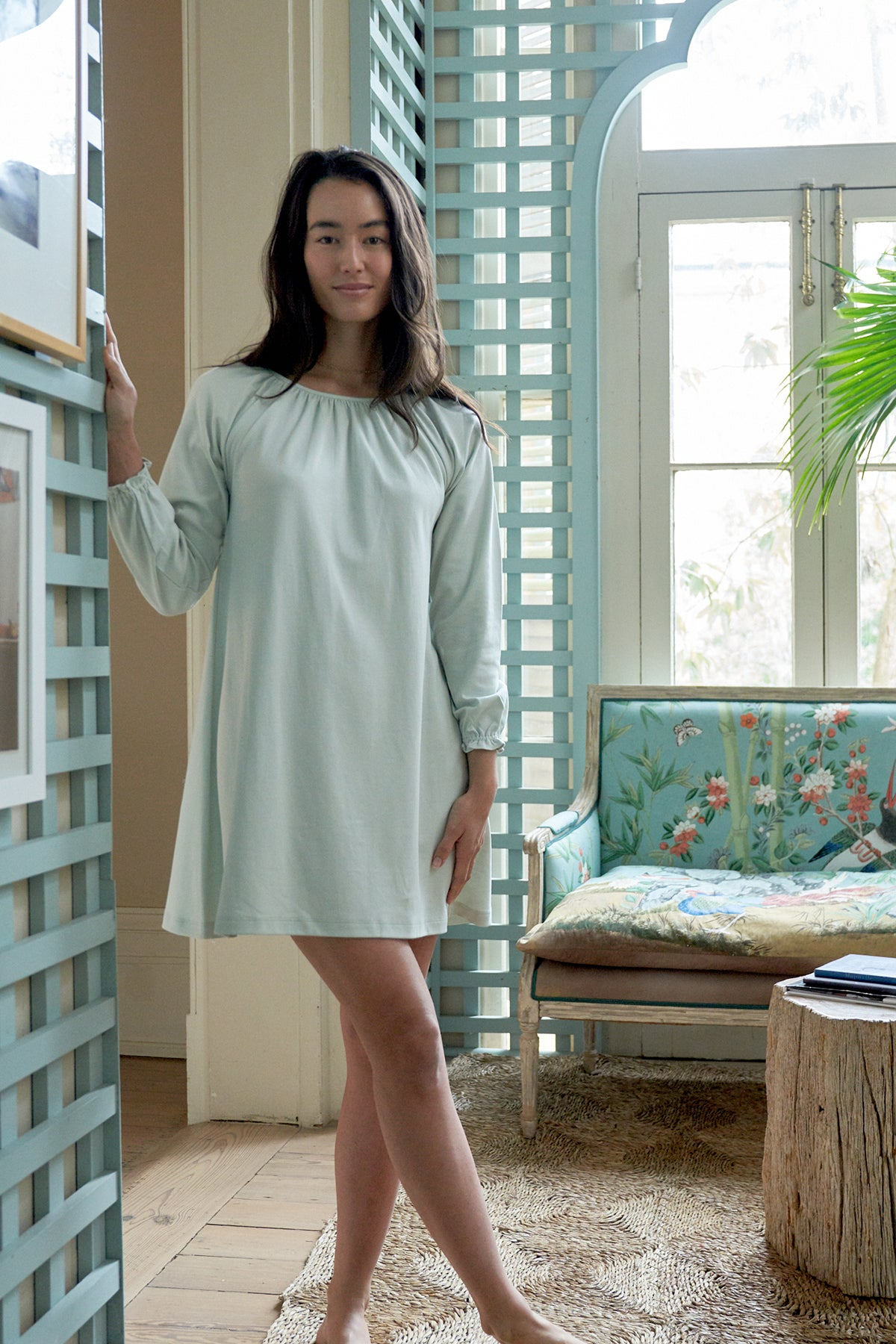 Pima Snooze Nightgown in Drift