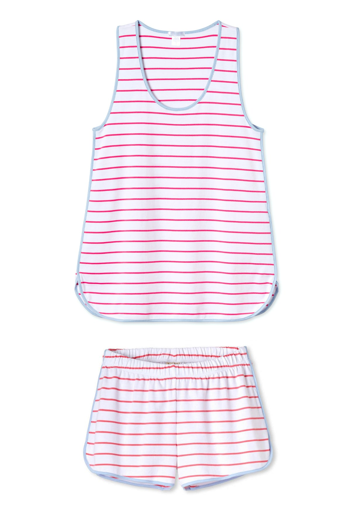 Pima Tank-Short Set in Sorbet
