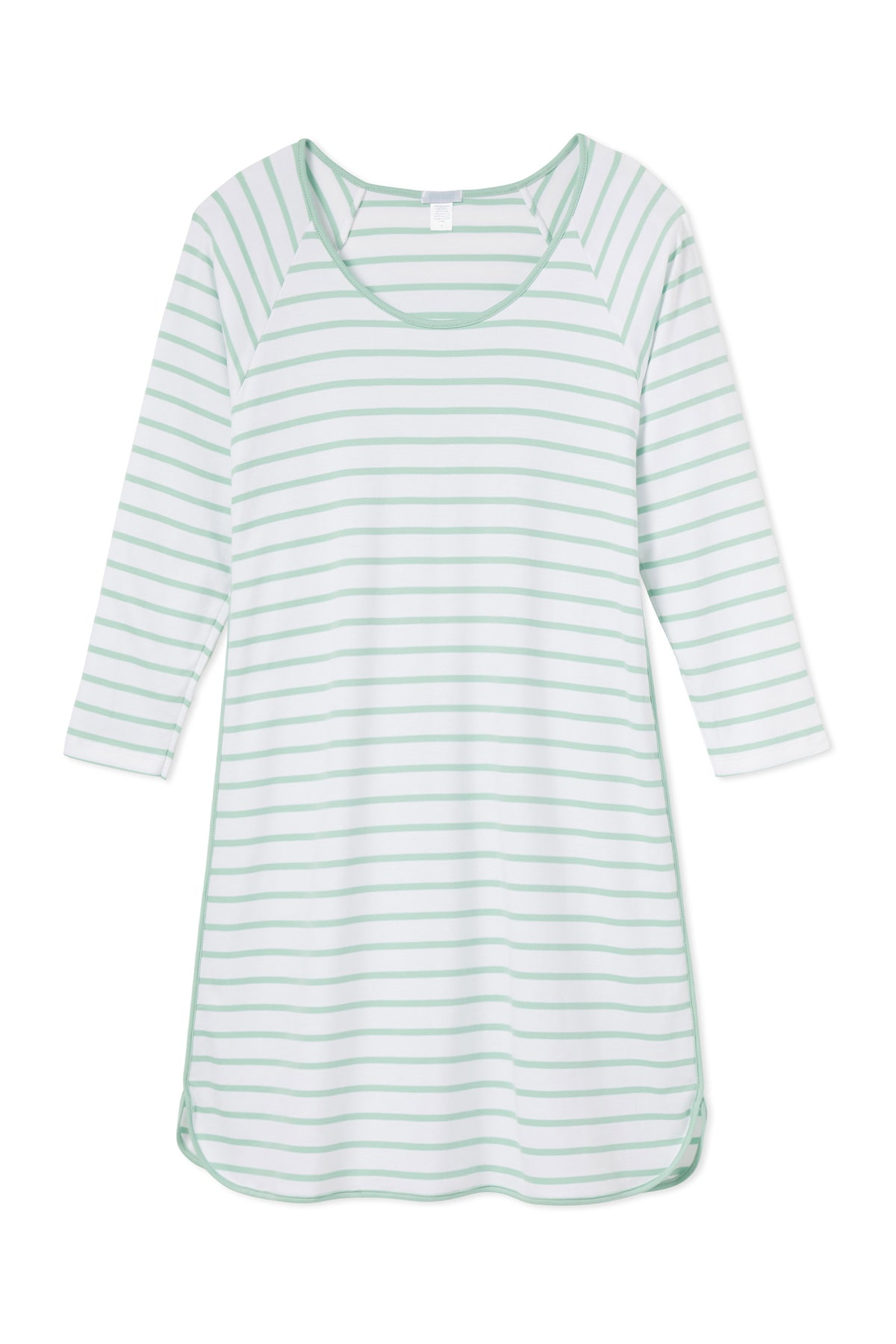 Pima Long Sleeve Nightgown in Spring Green
