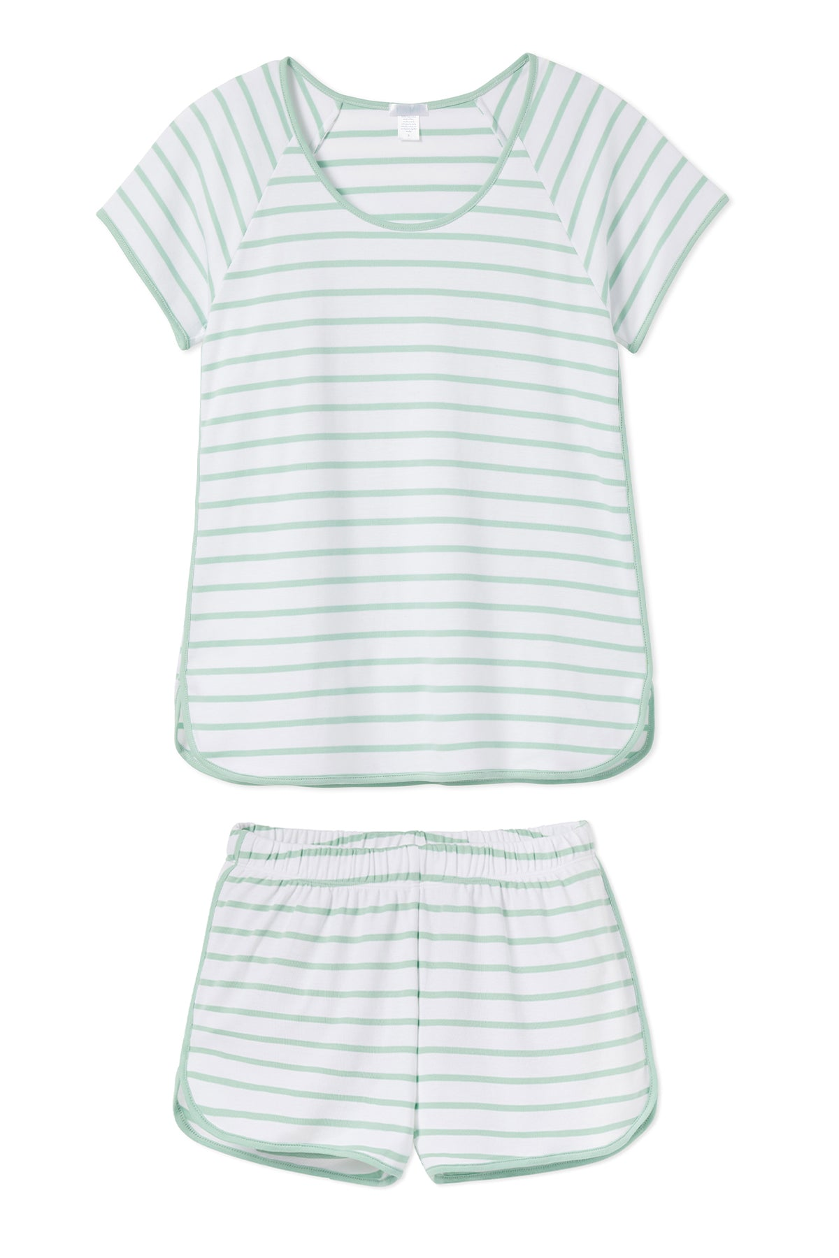 Pima Shorts Set in Spring Green