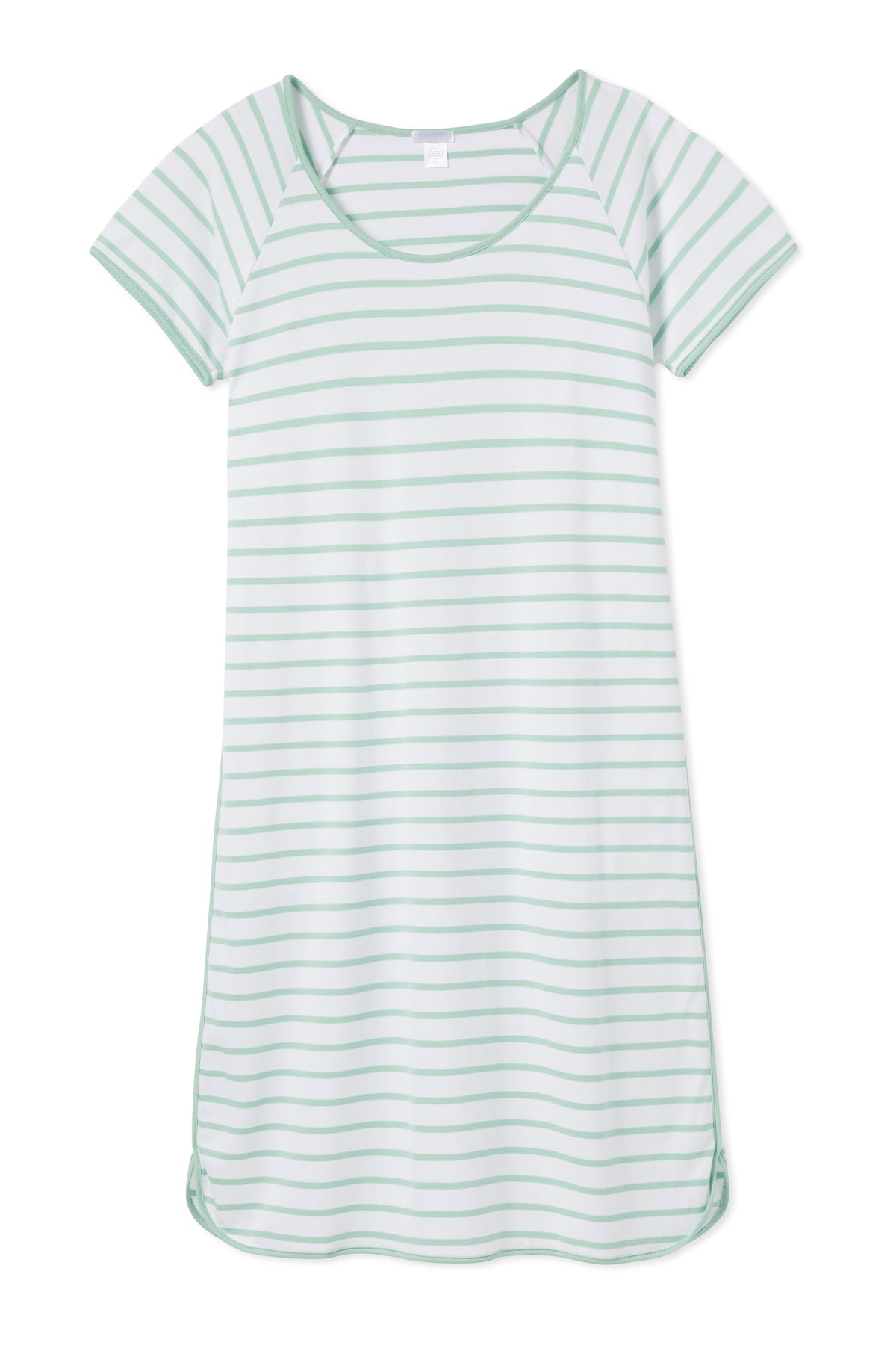 Pima Long Nightgown in Spring Green