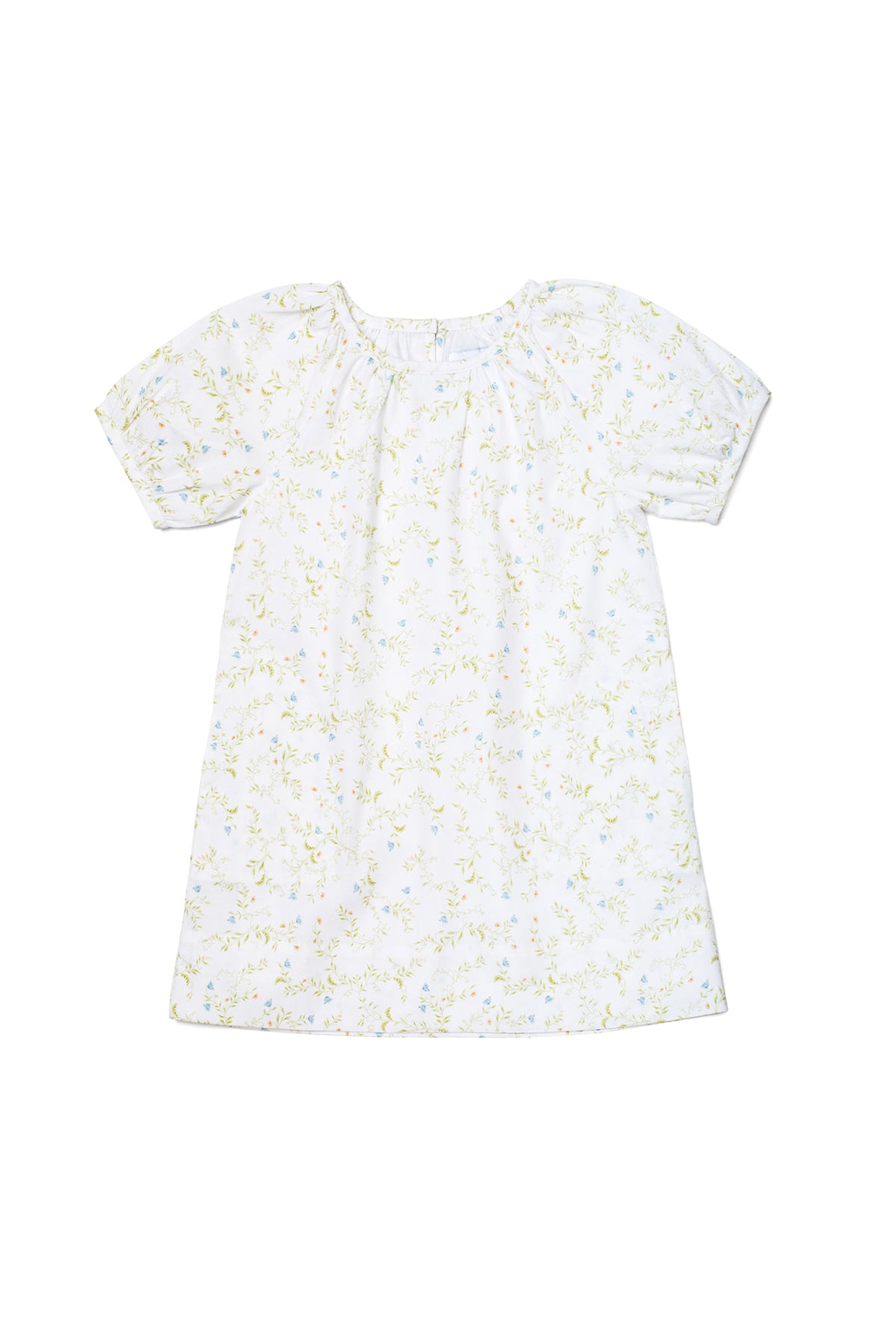 JB x LAKE Baby Gathered Sleeve Dress in Spring Vine