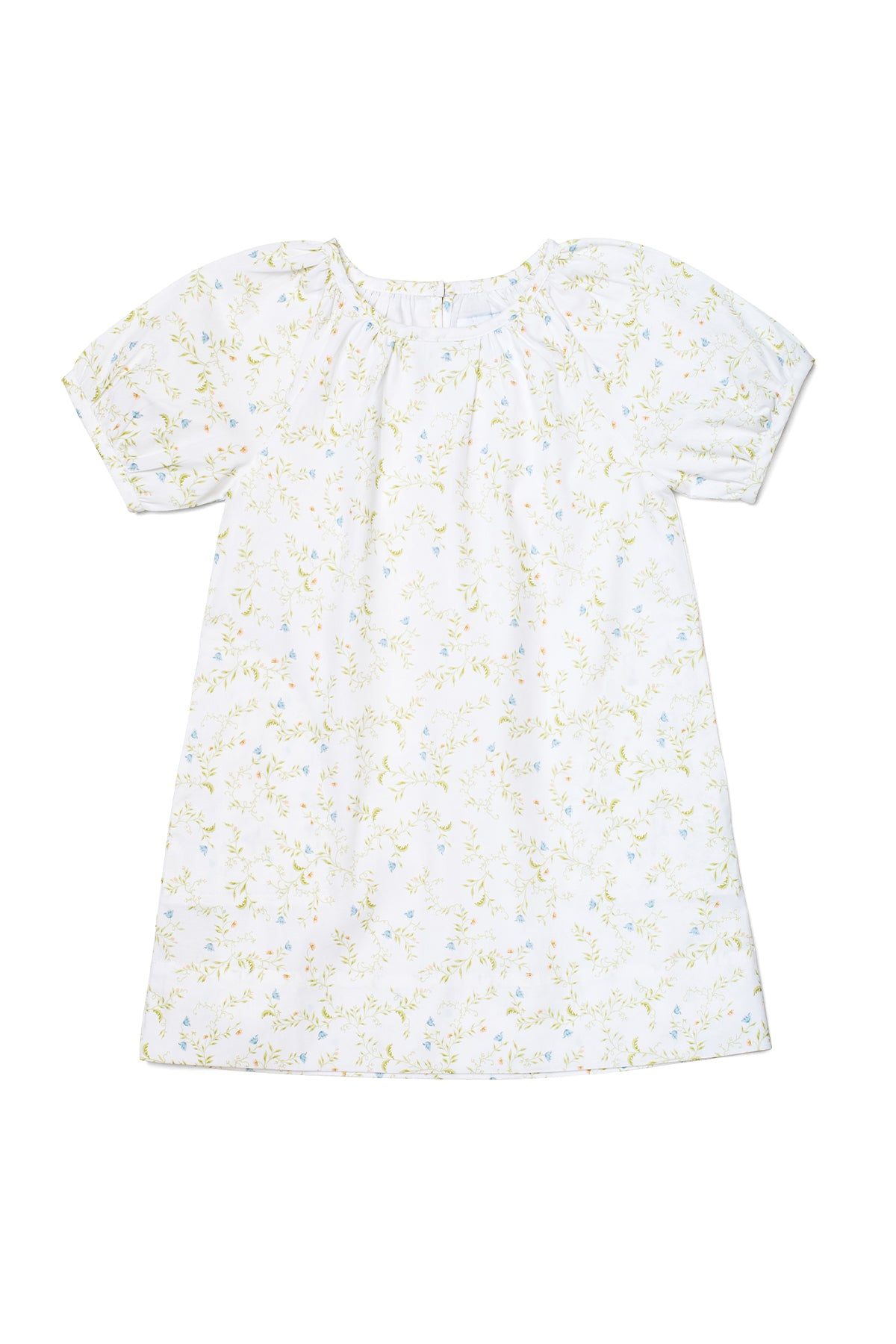 JB x LAKE Kids Gathered Sleeve Dress in Spring Vine
