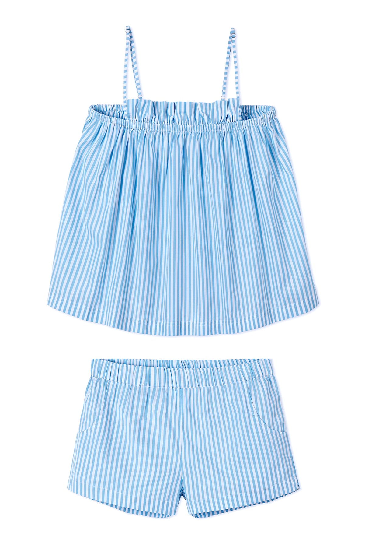 Ruffle Shorts Set in Surf