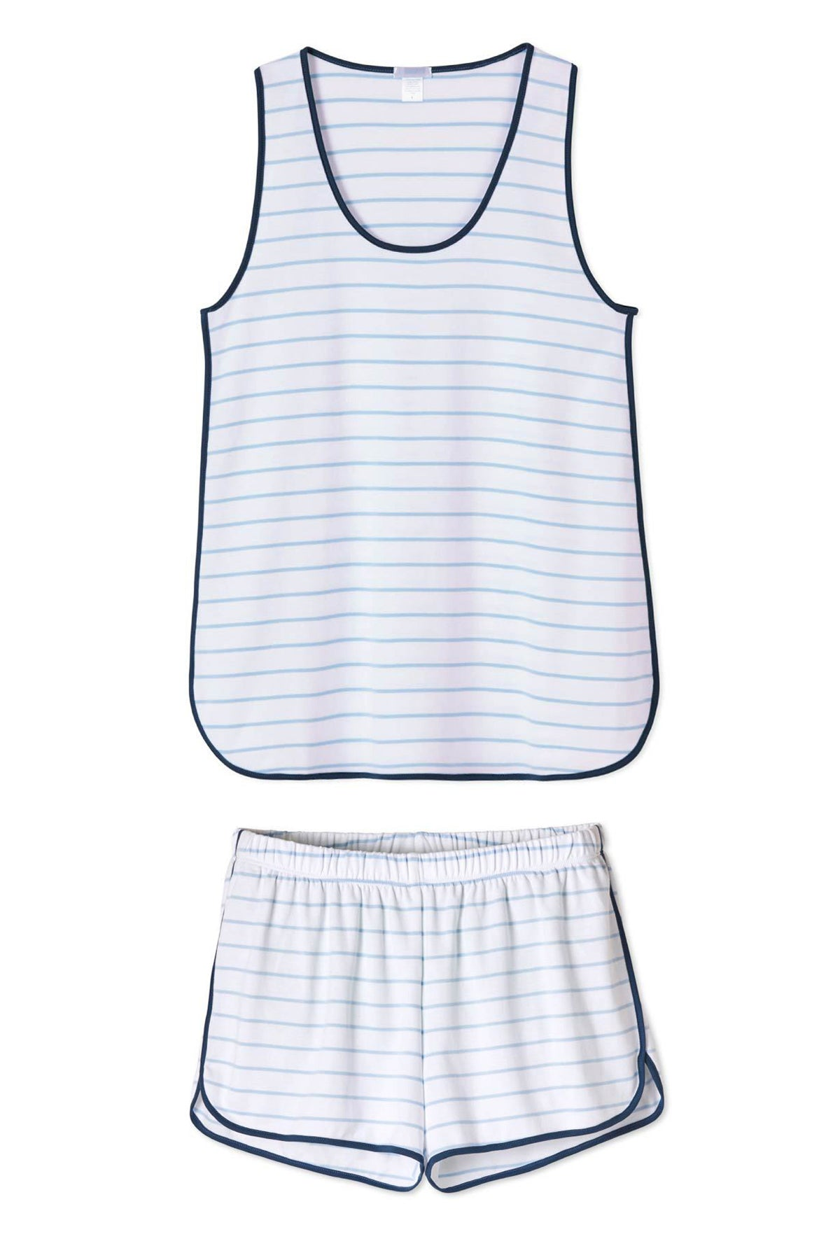 Pima Tank-Short Set in Marine