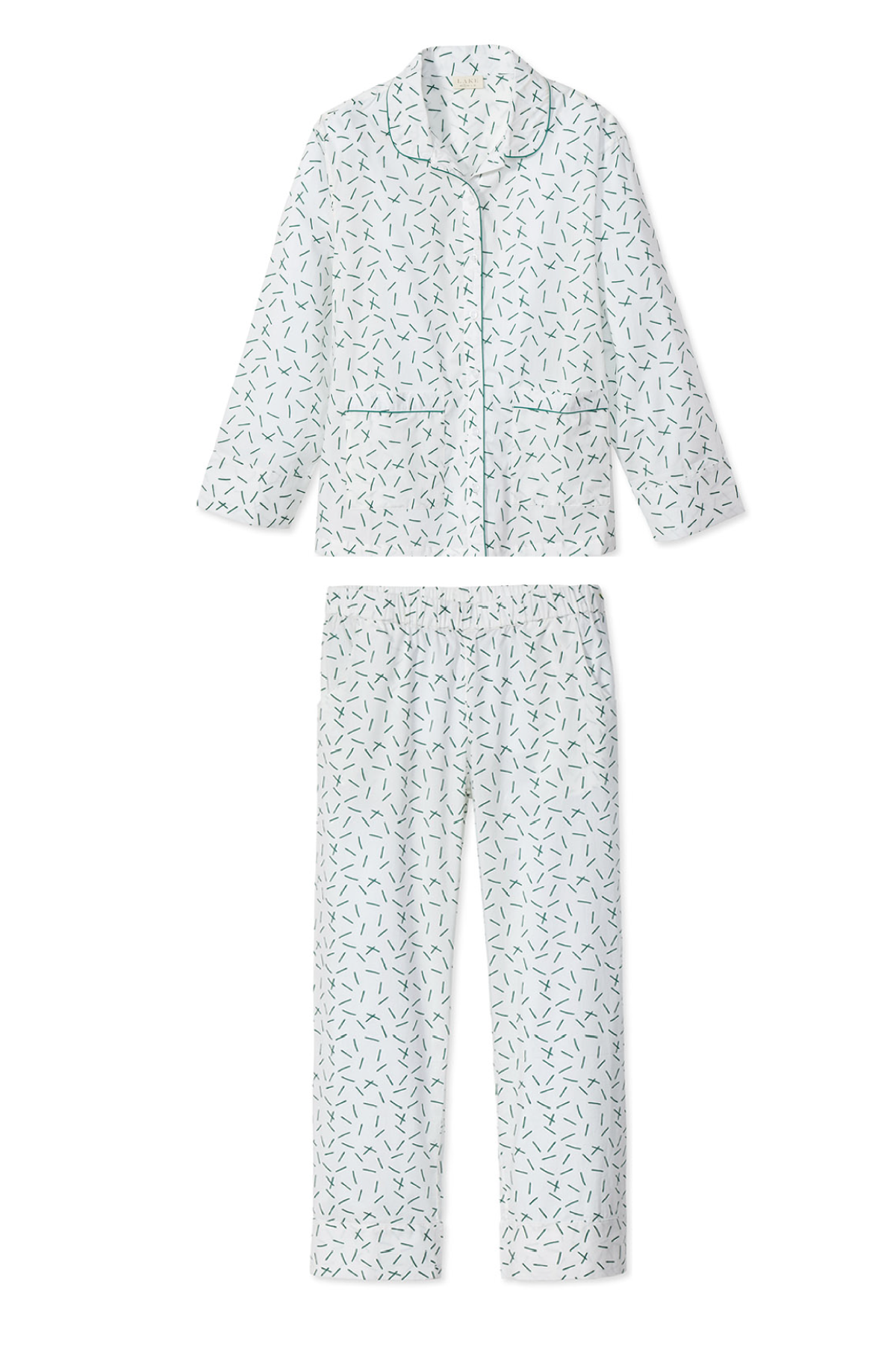 Poplin Pants Set in Hedge