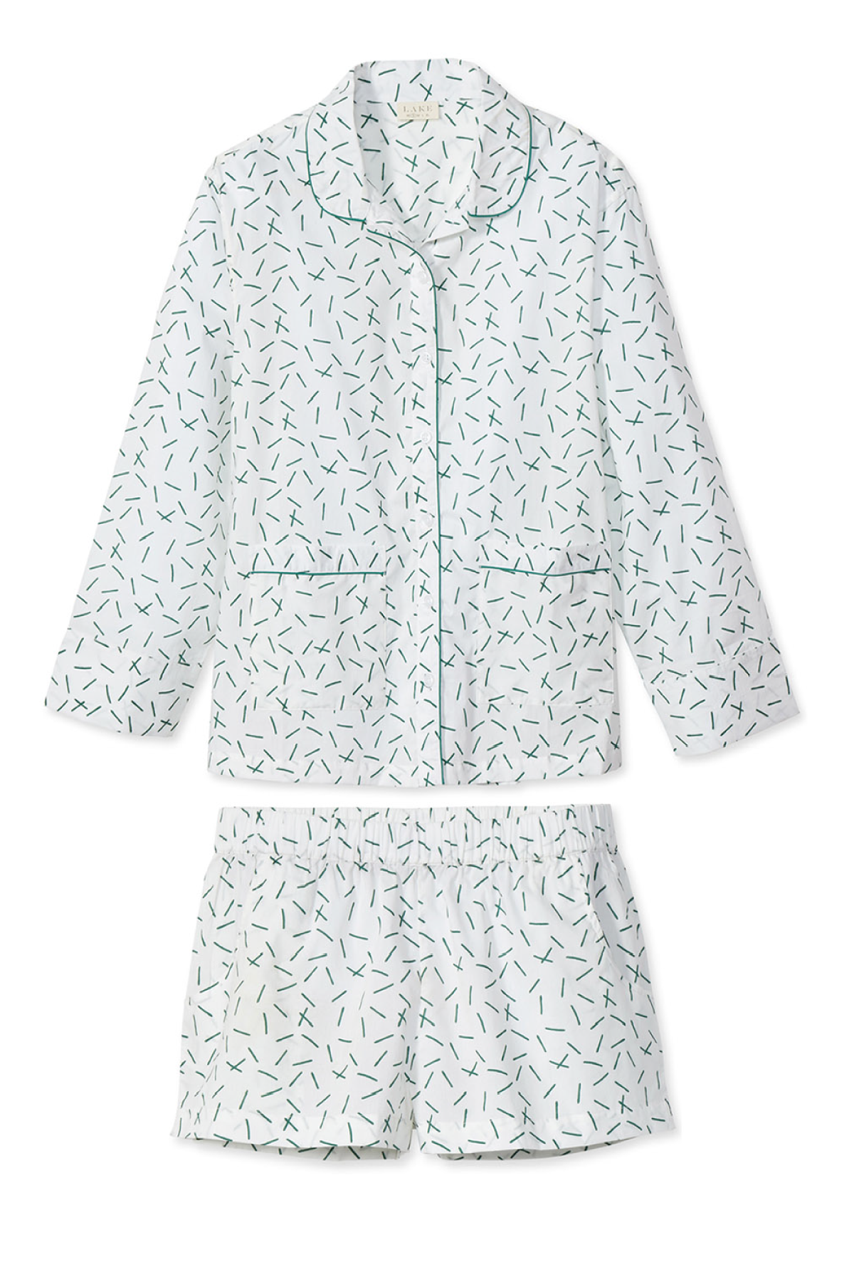 Poplin Shorts Set in Hedge
