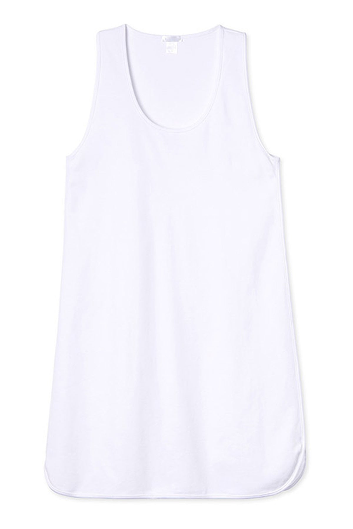 Pima Tank Gown in White