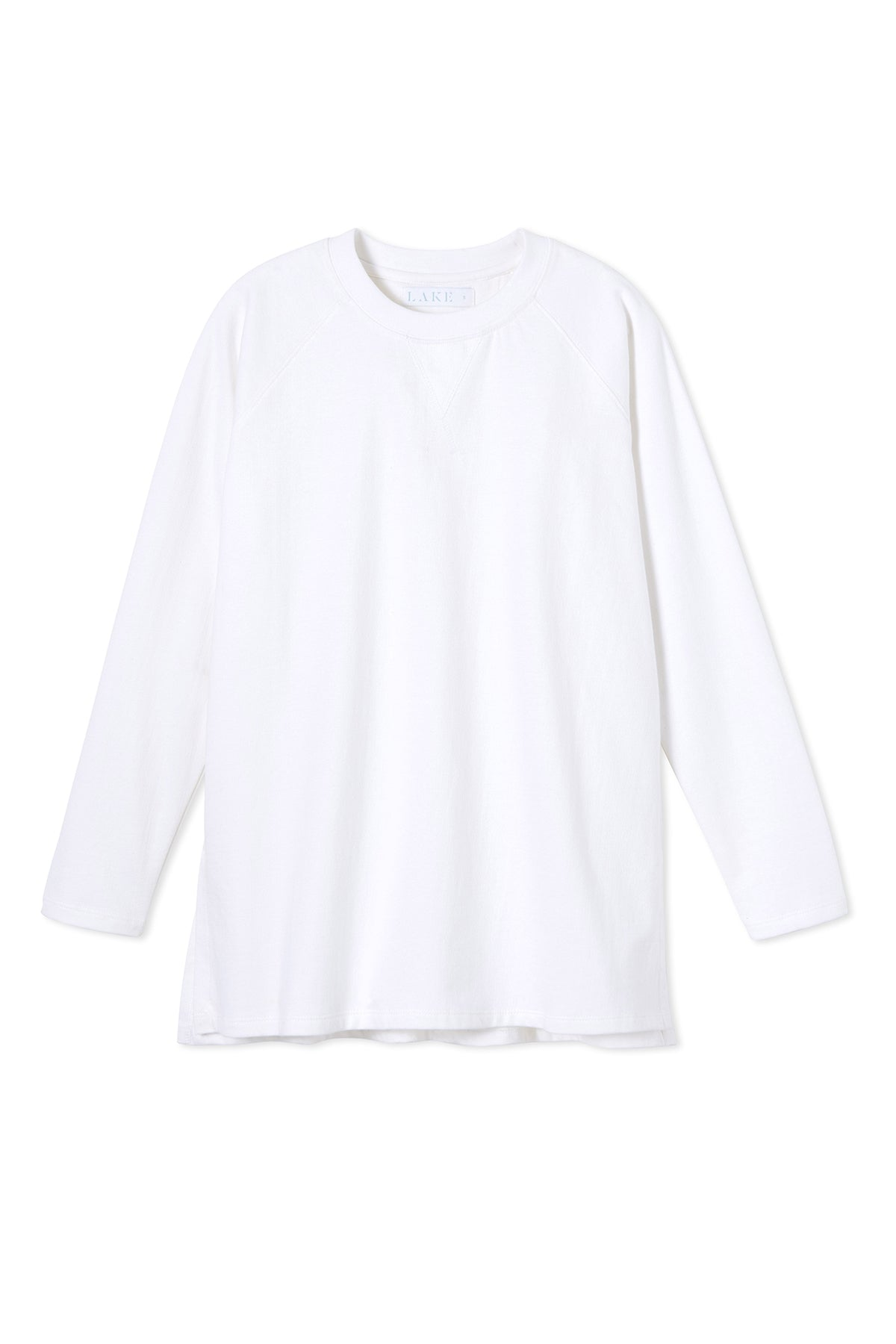Sweatshirt Tunic in White