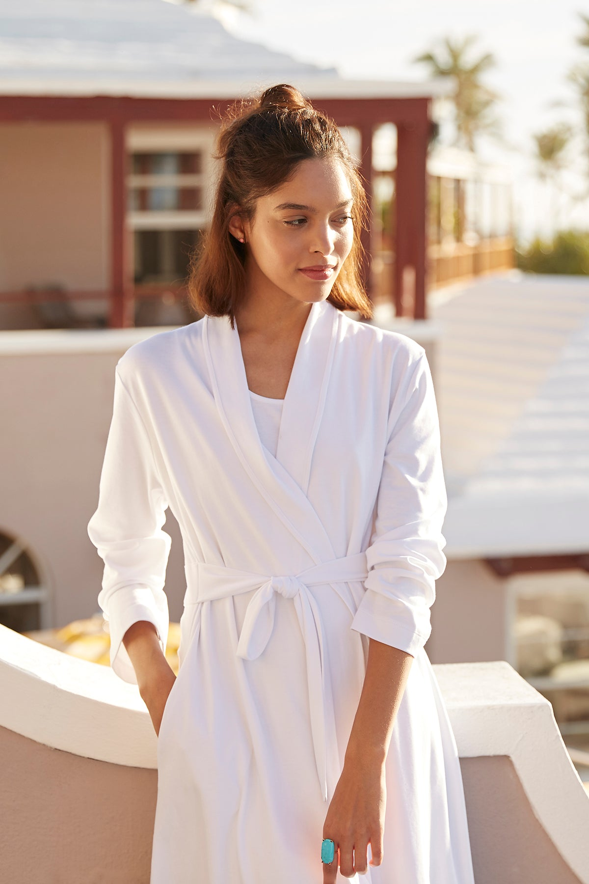 Pima Robe in White