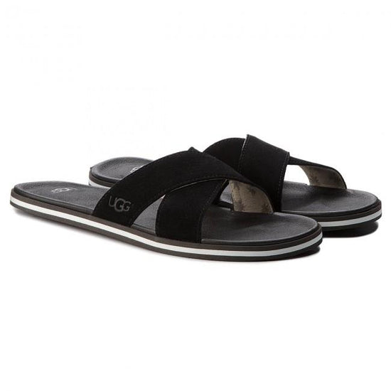כפכפי גברים UGG Beach Slide Black (4588962644042)