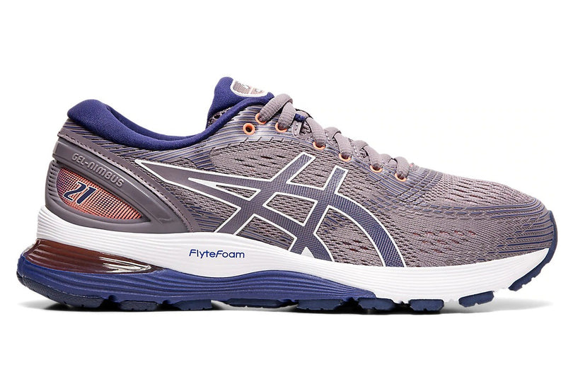asics gel Nimbus 21 woman Purple   אסיקס ג'ל נימבוס 21  סגול נשים