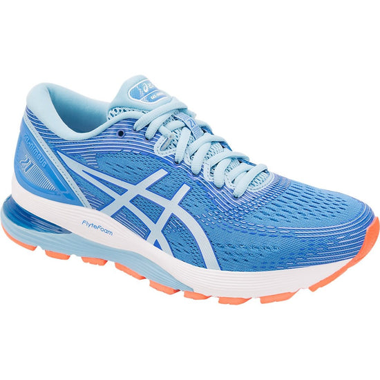 asics gel Nimbus 21 woman   אסיקס ג'ל נימבוס 21  טורקיז נשים