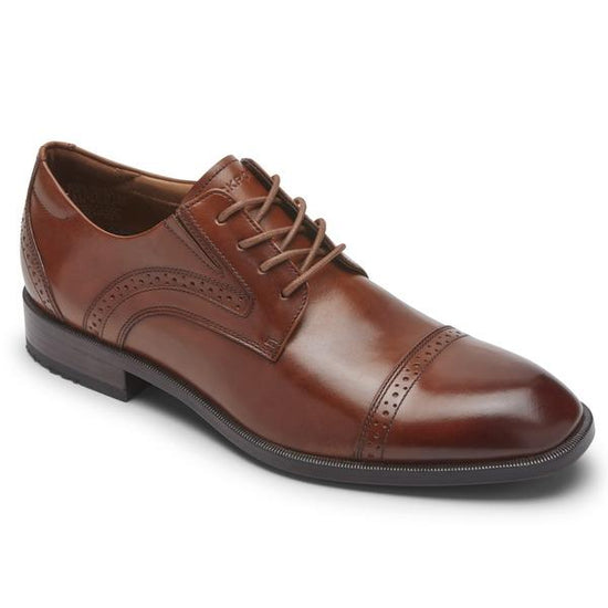 Rockport TM Office Cap Toe British Tan Men רוקפורט נעלי גברים חום (4791797416010)