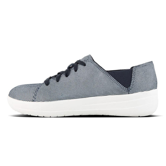 פיט פלופ פ-ספורטי נייבי Fit-Flop F-Sporty Laceup Sneaker Print  Midnight Navy (4538692206666)