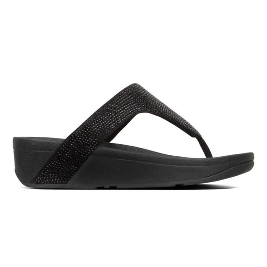 פיט פלוט לוטי שימר קריסטל אצבע שחור Fit-Flop Lottie Shimmer Crystal Black (4527259746378)