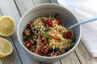 Quinoa berry bowl