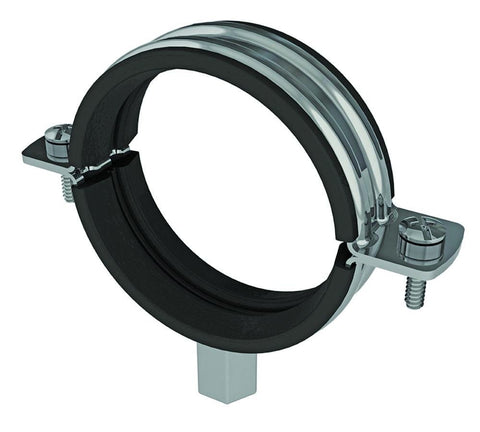 BZP LINED PIPE CLAMP WITH BOSS