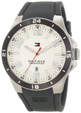 Tommy Hilfiger 1790863 Sport White Dial Grey Silicone Band Men's Watch