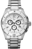 Guess Collection X76007G1S White Dial Stainless Chrono Men's Watch