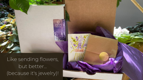 Like sending flowers, but better (because it 's jewelry!)