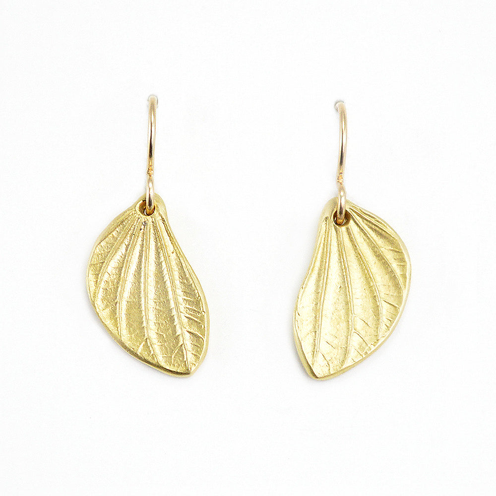 Linden Pod Leaf Earrings