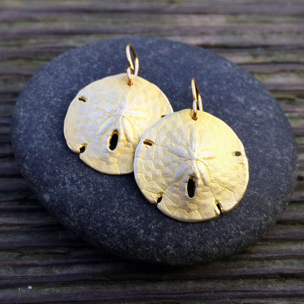 Sanddollar Shell Earrings