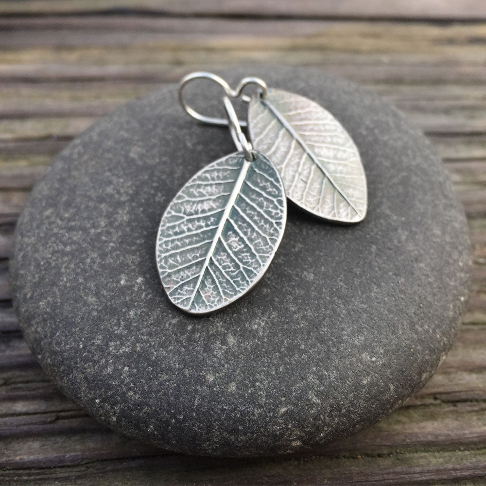 Smokebush Leaf Earrings