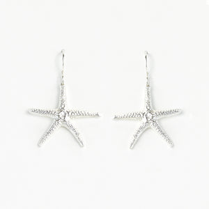 Starfish Shell Earrings (L)
