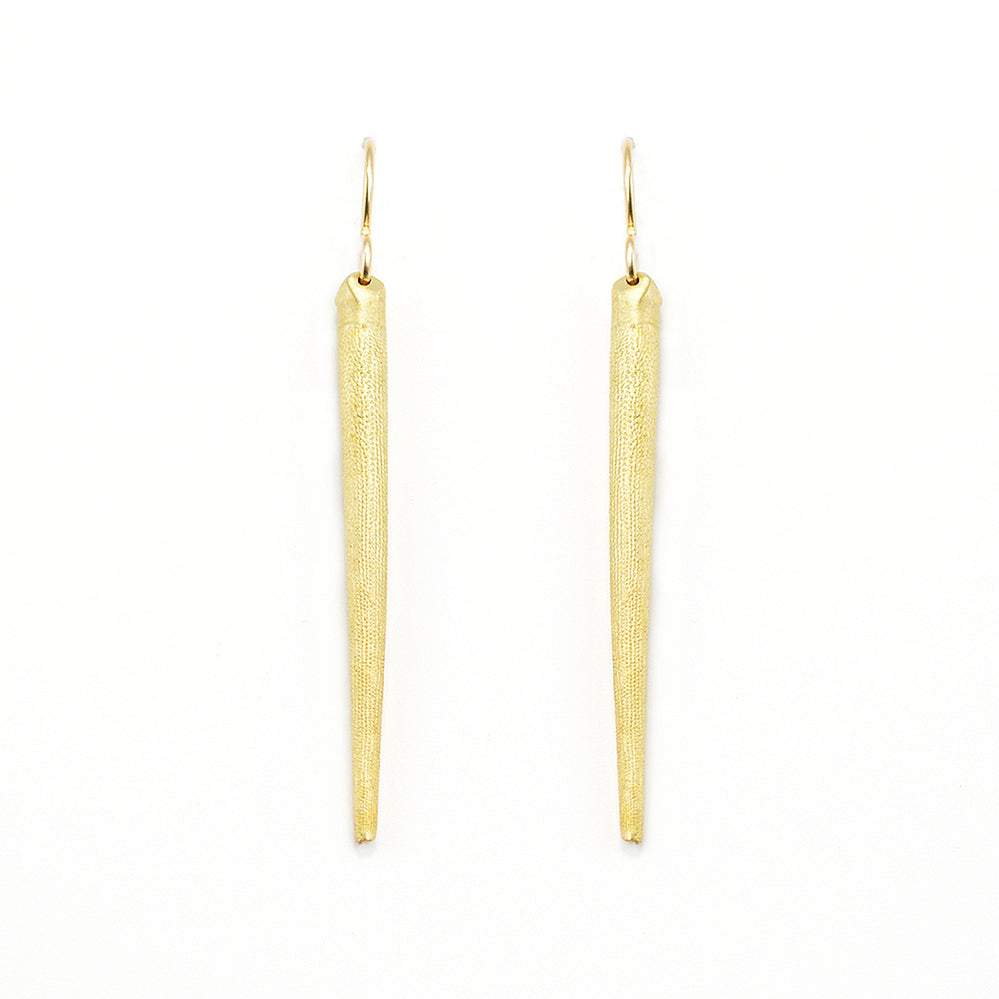 Seashell Earrings. Sea Urchin Spine earrings cast from beautiful bronze.  14k gold and Sterling Silver hooks
