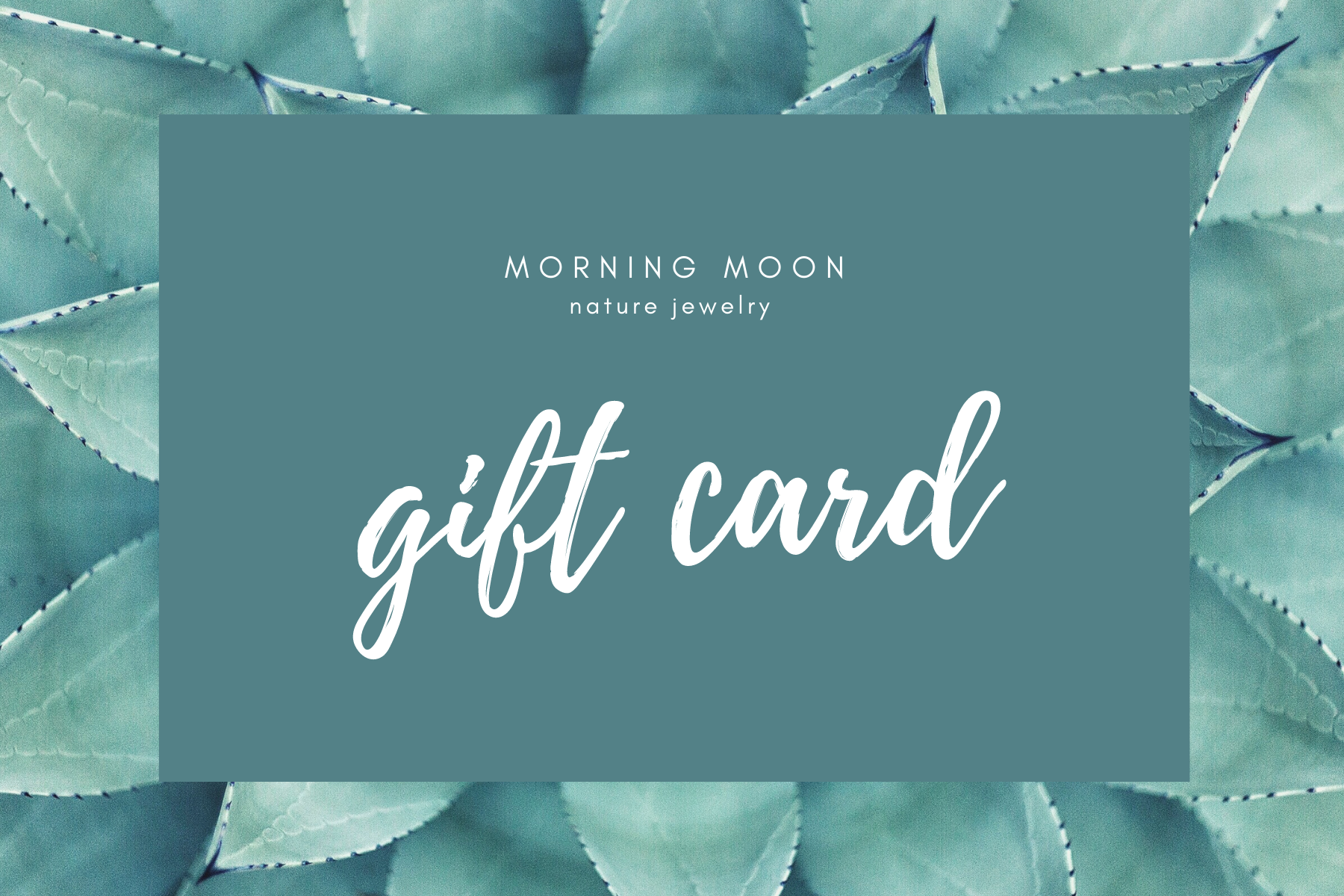 Morning Moon Nature Jewelry Gift Card