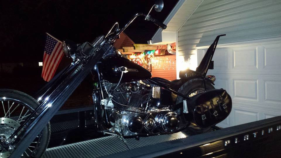 Loaded my 54 Panhead at night with ease!