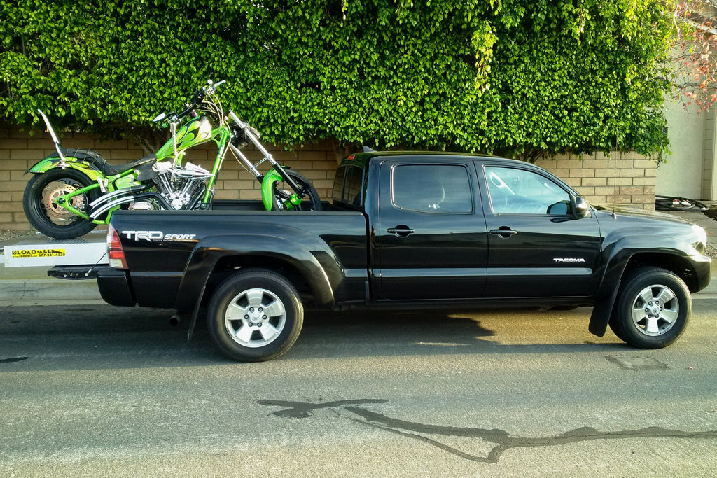 Custom Toyota Tacoma Loading Ramp for Chopper
