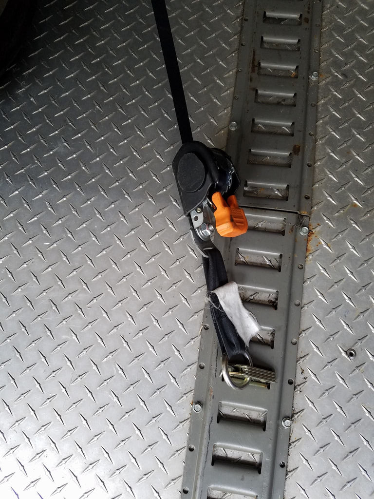 1 inch cargobuckle tie downs with the E-track