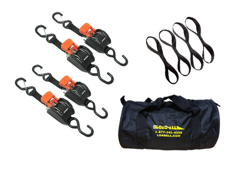 1 inch CargoBuckle Bundle Pack - LoadAll InnerBox Loading Systems Inc. - ratchet strap_tie-down_tie-downs_retractable-tie-down_retracting-ratchet-strap_heavy-duty-ratchet-strap