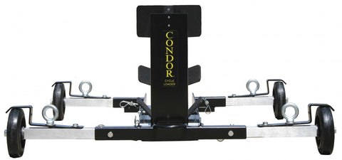 Condor Motorcycle Recovery Cart & Loader - LoadAll InnerBox Loading Systems Inc._motorcycle-transportation_condor-wheel-chock_wheel-chock_motorcycle_chock_motorcycle-wheel-holder_recovery-cart-wheel-chock_condor-cart_recovery-cart_wheel-chock-on-wheels - 1
