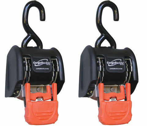 2 Inch, CargoBuckle Self-Retracting Tie-Down (2 Pack)