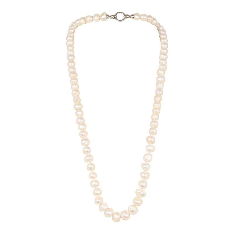 "WHITE 34"" BAM BAM NECKLACE"