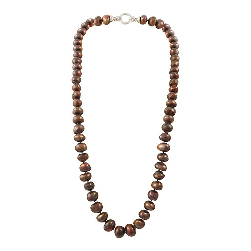 "CHOCOLATE 34"" BAM BAM NECKLACE"