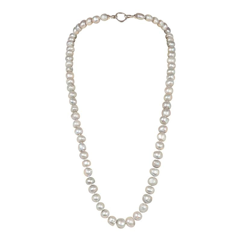"GRAY 34"" BAM BAM NECKLACE"