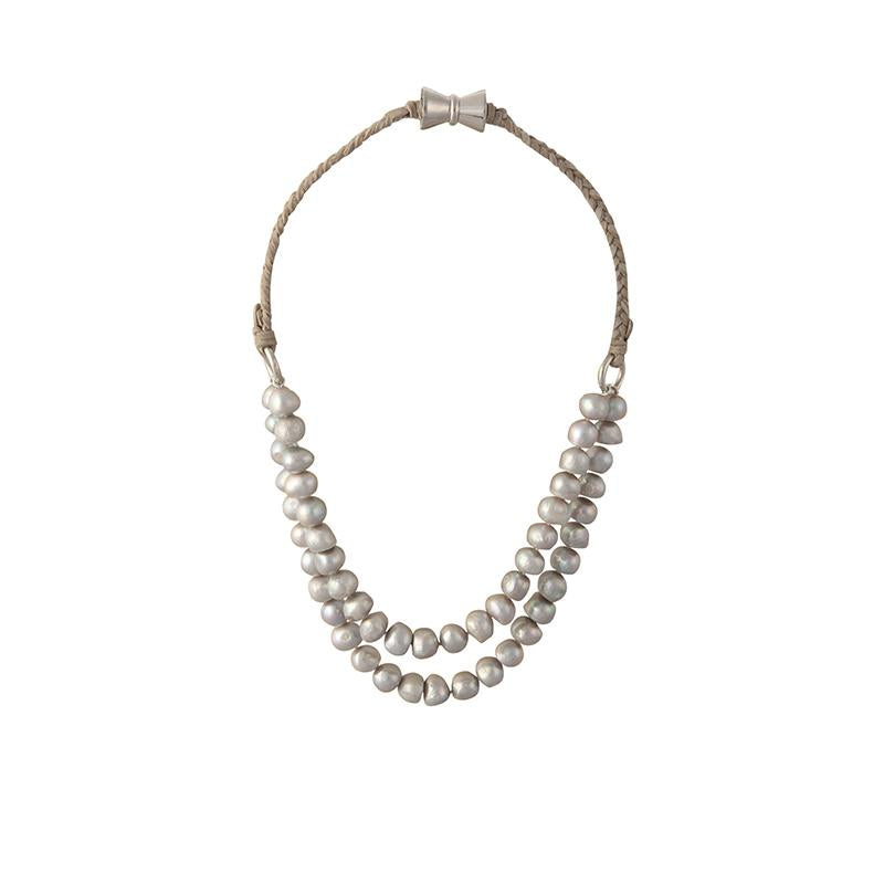 BOMBAY NECKLACE (GRAY ON GRAY)