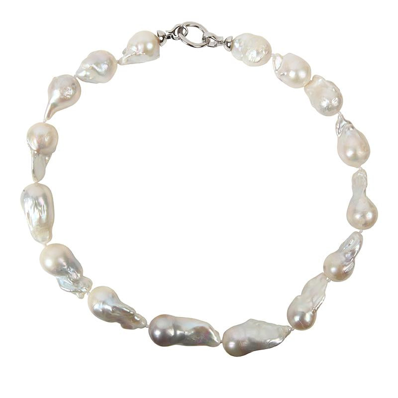 WHITE WILD PEARL SINGLE STRAND