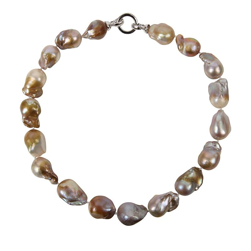 CHAMPAGNE WILD PEARL SINGLE STRAND