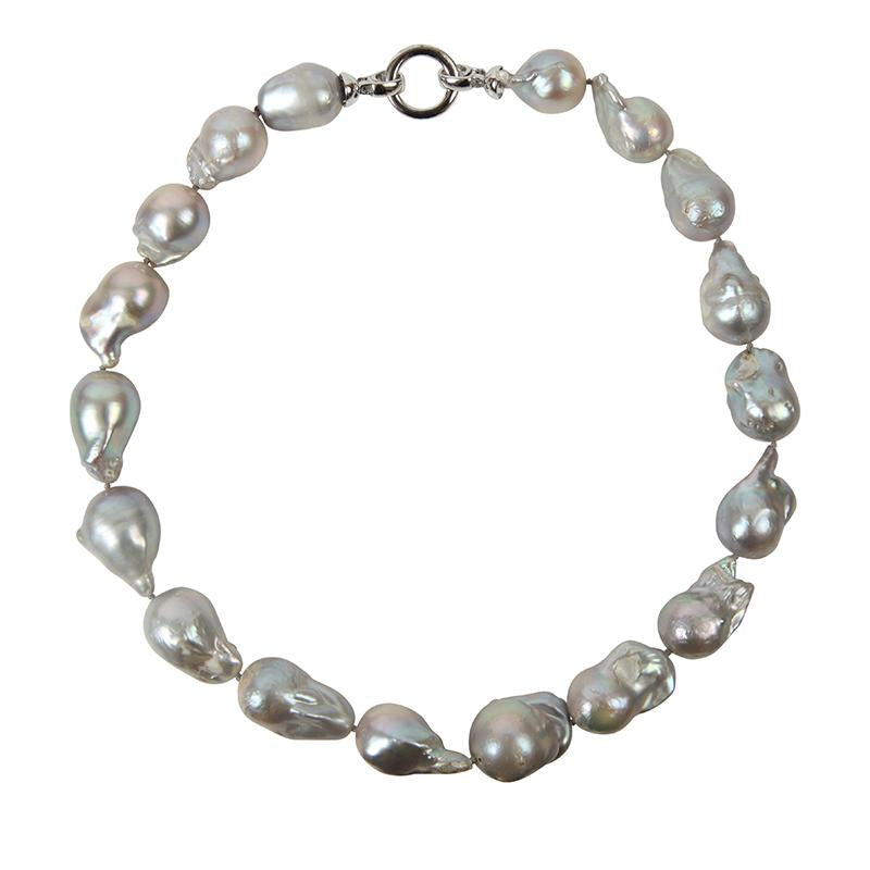 GRAY WILD PEARL SINGLE STRAND