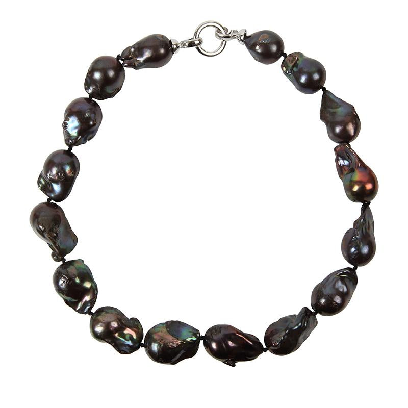 BLACK WILD PEARL SINGLE STRAND