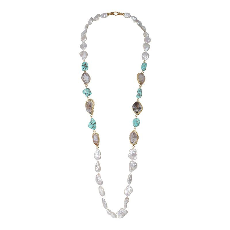 STONE PEARL TURQUOISE 42""