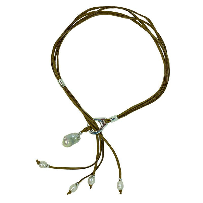 FIJI ADJUSTABLE NECKLACE IN TAN