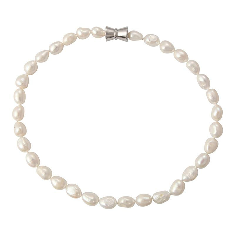 BAROQUE SINGLE STRAND (WHITE)