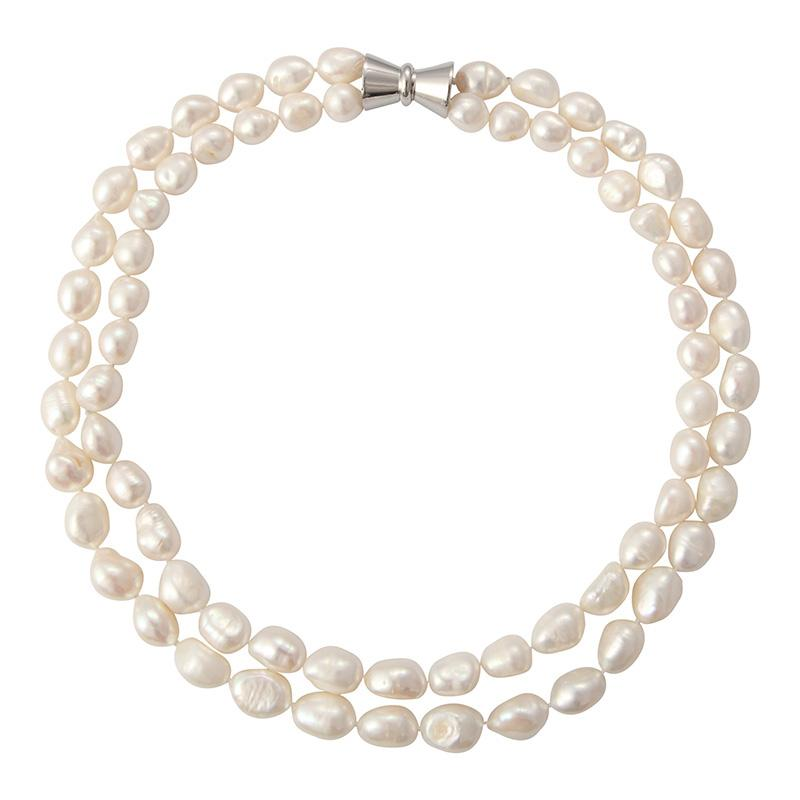 BAROQUE DOUBLE STRAND (WHITE)