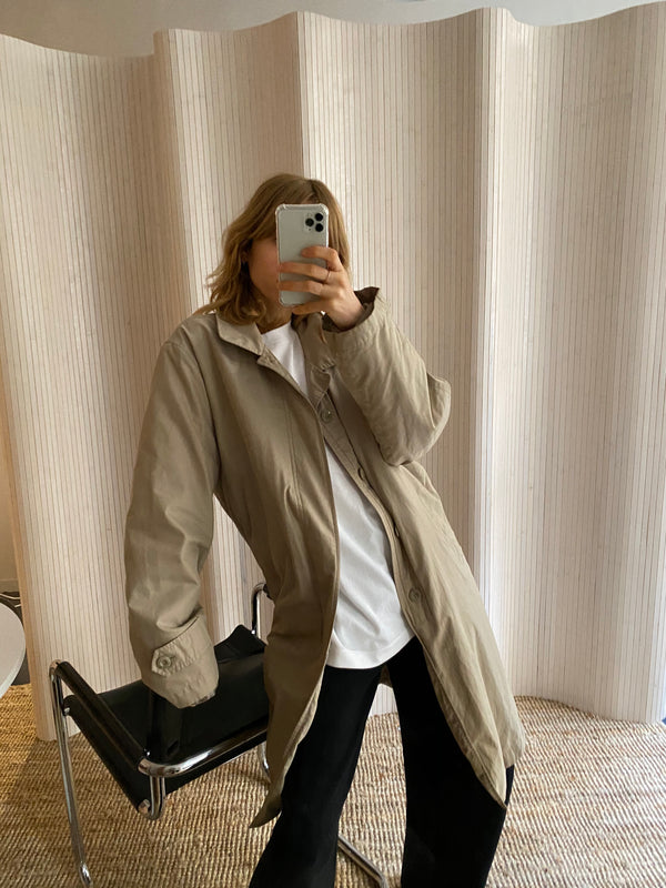 trench parka beige T.L
